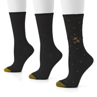 GOLDTOE 3-pk. Floral Pima Crew Socks