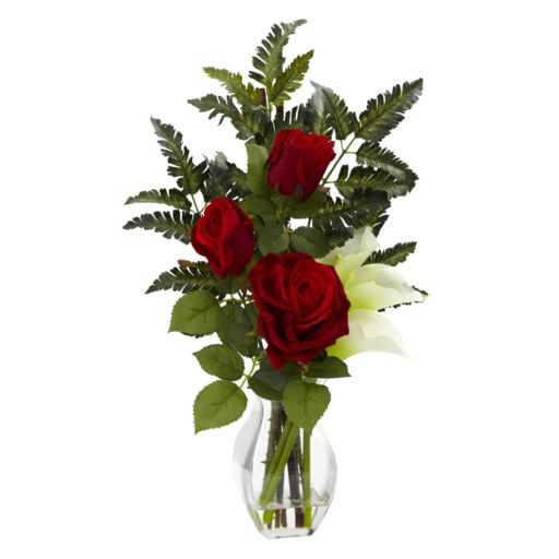 nearly natural Rose and Calla Lily Floral Arrangement