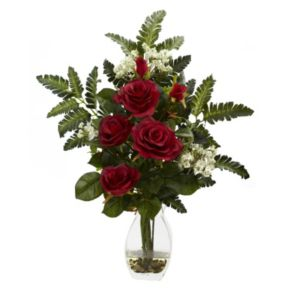 nearly natural Rose and Chryistam Floral Arrangement