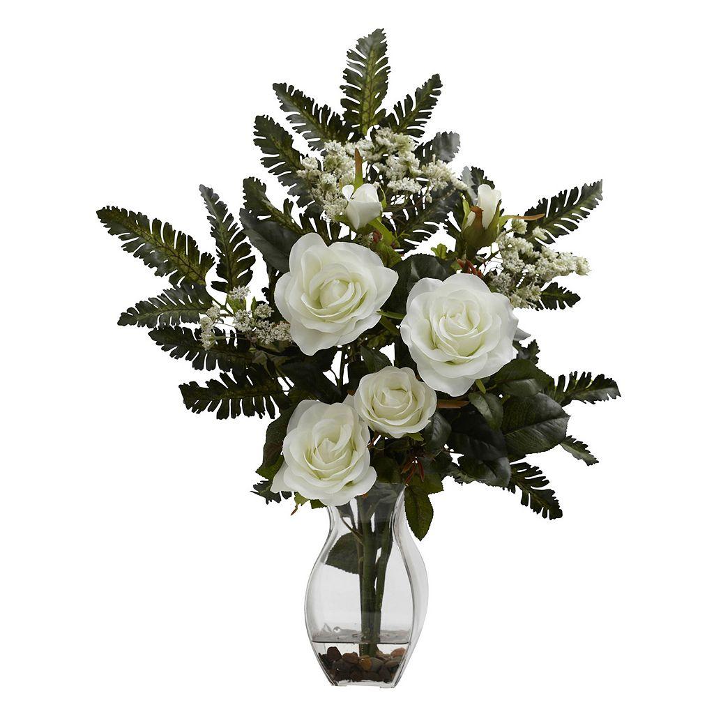nearly natural Rose & Chryistam Floral Arrangement