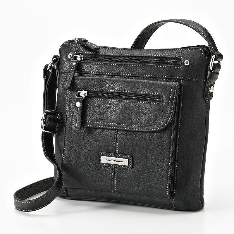 Croft & Barrow Leather Crossbody Bag (Black)