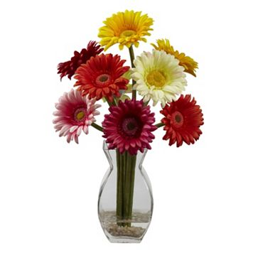 nearly natural Gerber Daisy Floral Arrangement