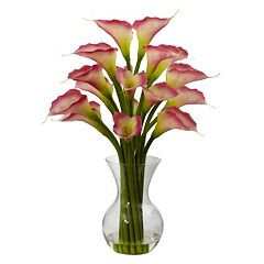 nearly natural Galla Calla Lily Floral Arrangement