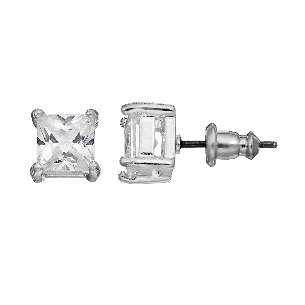 Dana Buchman Cubic Zirconia Solitaire Earrings