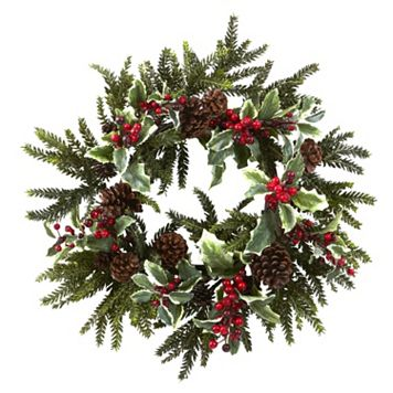 nearly natural Holly Berry Christmas Wreath