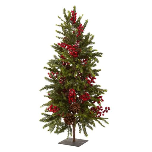 nearly natural Pine and Berry Artificial Christmas Tree