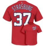 Men's Majestic Washington Nationals Stephen Strasburg Tee