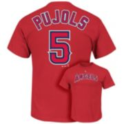 Men's Majestic Los Angeles Angels of Anaheim Albert Pujols Tee
