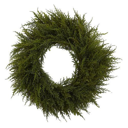 nearly natural Cedar Christmas Wreath