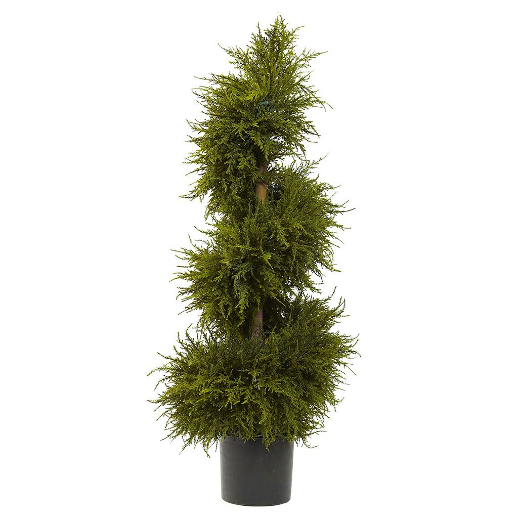 nearly natural Pre-Lit Cedar Spiral Topiary - Indoor