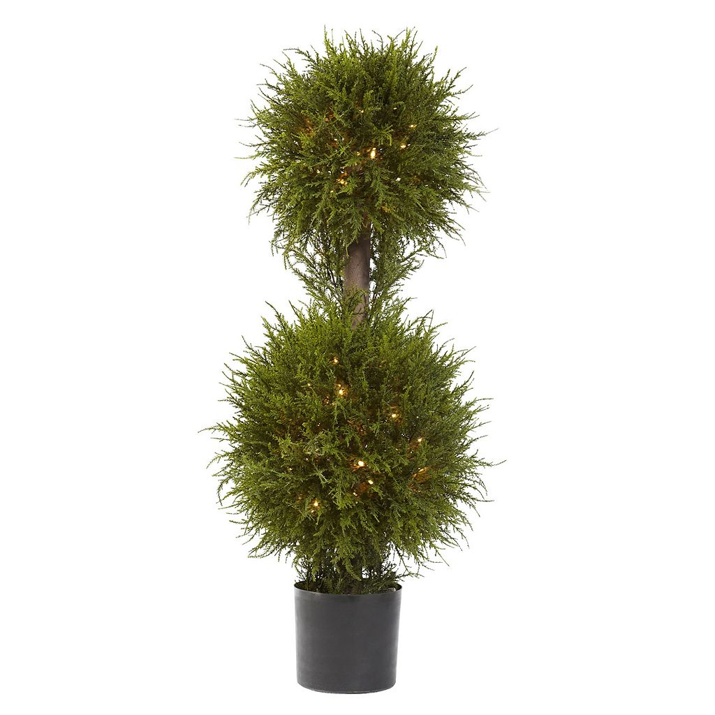 nearly natural Pre-Lit Cedar Topiary - Indoor