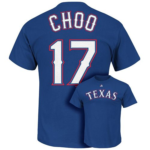 Men's Majestic Texas Rangers Shin-Soo Choo Tee