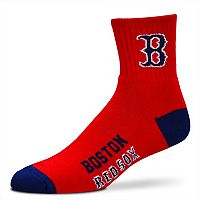 Adult For Bare Feet Boston Red Sox Team Color 1/4-Crew Socks