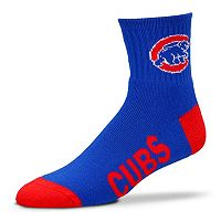 For Bare Feet Chicago Cubs Team Color 1/4-Crew Socks - Adult