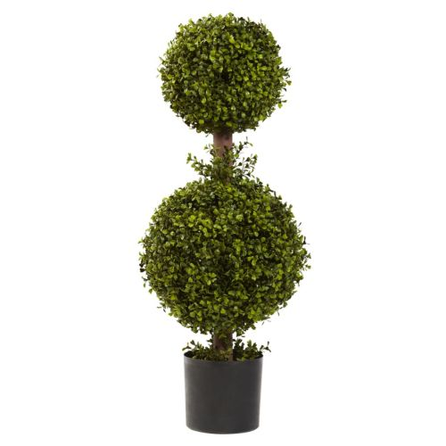nearly natural Boxwood Double Topiary