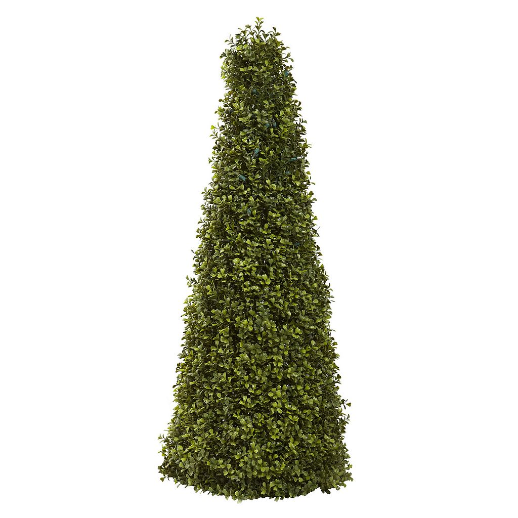 nearly natural Pre-Lit Boxwood Cone - Indoor