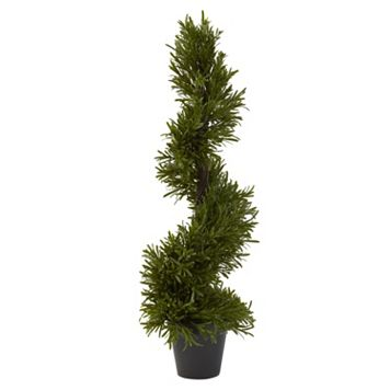 nearly natural 30-in. Rosemary Spiral Tree - Indoor & Outdoor