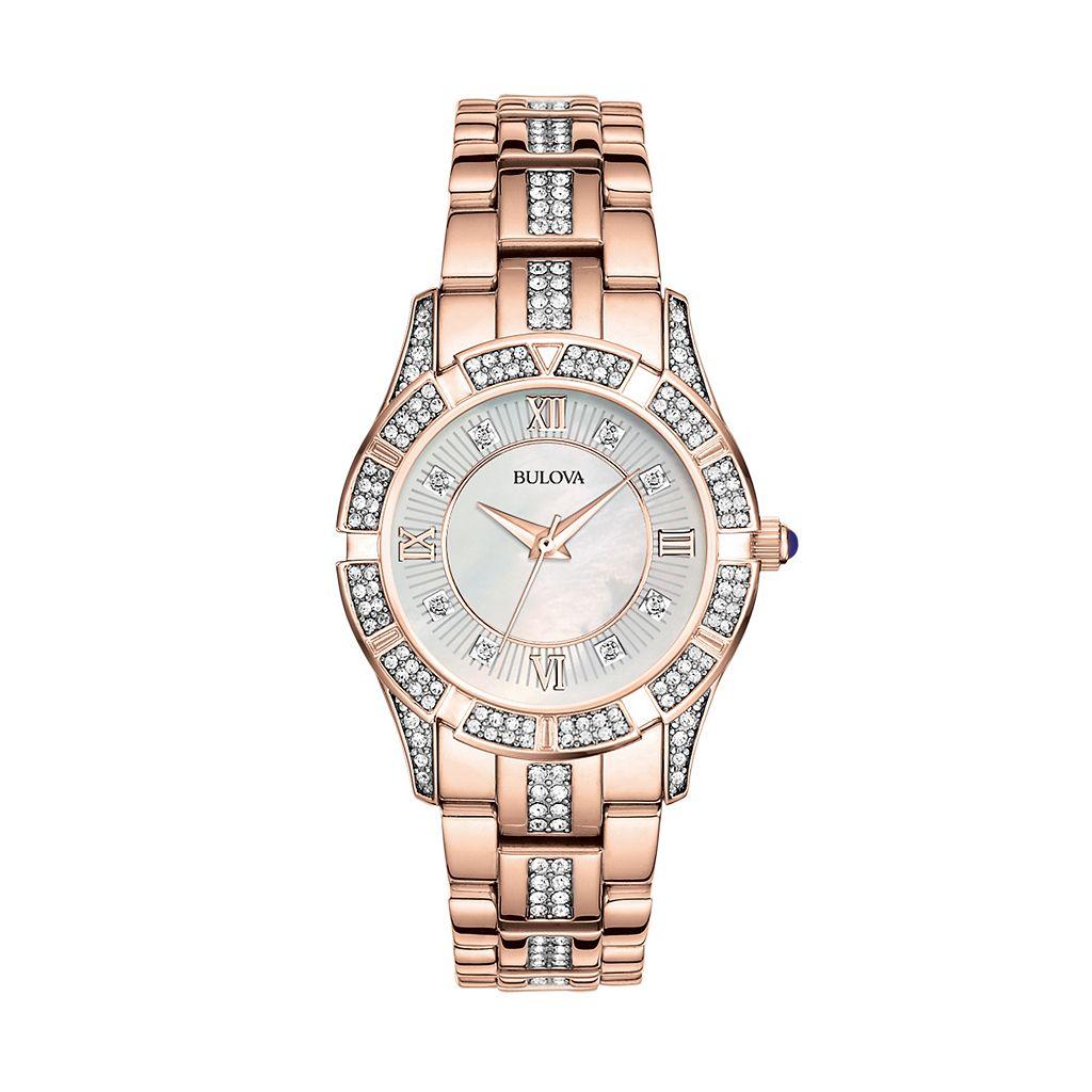 Bulova Women's Crystal Stainless Steel Watch - 98L197