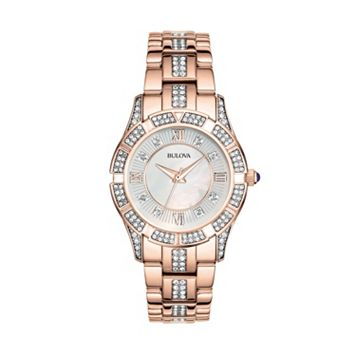 Bulova Women's Crystal Stainless Steel Watch - 98L197