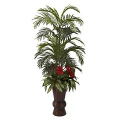 nearly natural 4.8-ft. Potted Areca Palm Tree