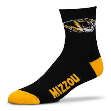 Adult For Bare Feet Missouri Tigers Team Color 1/4-Crew Socks