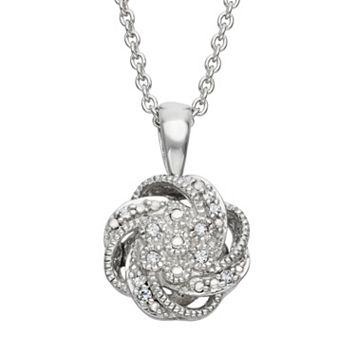 Simply Vera Vera Wang Sterling Silver Diamond Accent Swirl Pendant