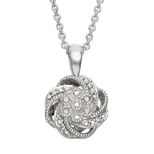 Simply Vera Vera Wang Sterling Silver Diamond Accent Swirl Pendant