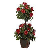 nearly natural 3 1/4-ft. Potted Hibiscus Topiary