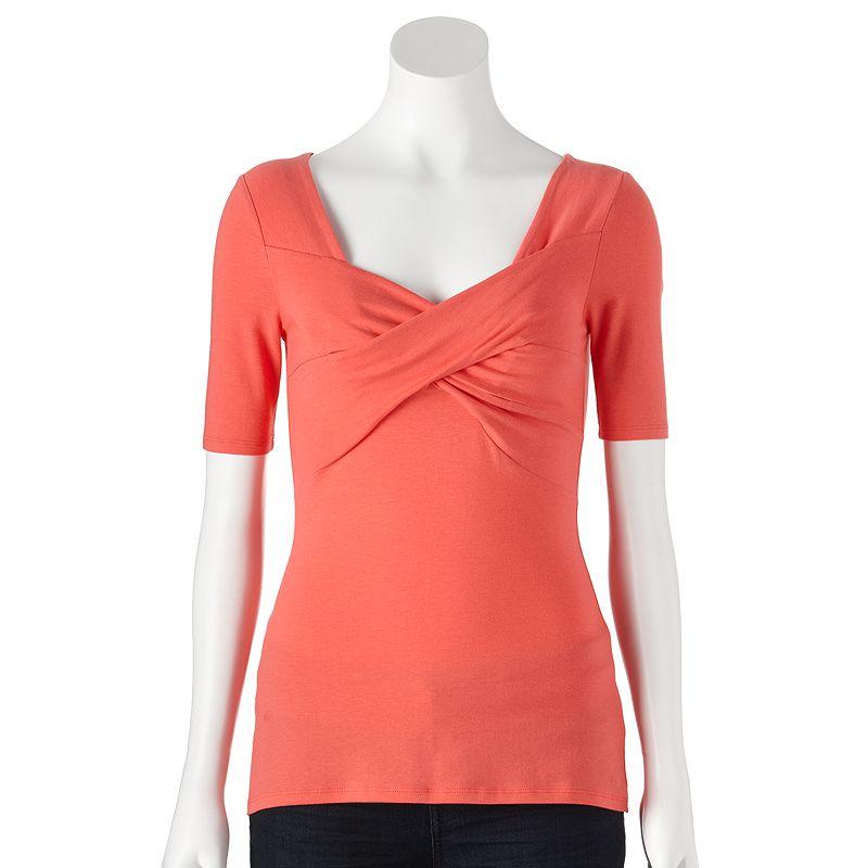 ELLE Crisscross Top - Women's Size X LARGE (Orange)