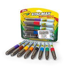 Crayola 8-ct. Visi-Max Dry-Erase Markers