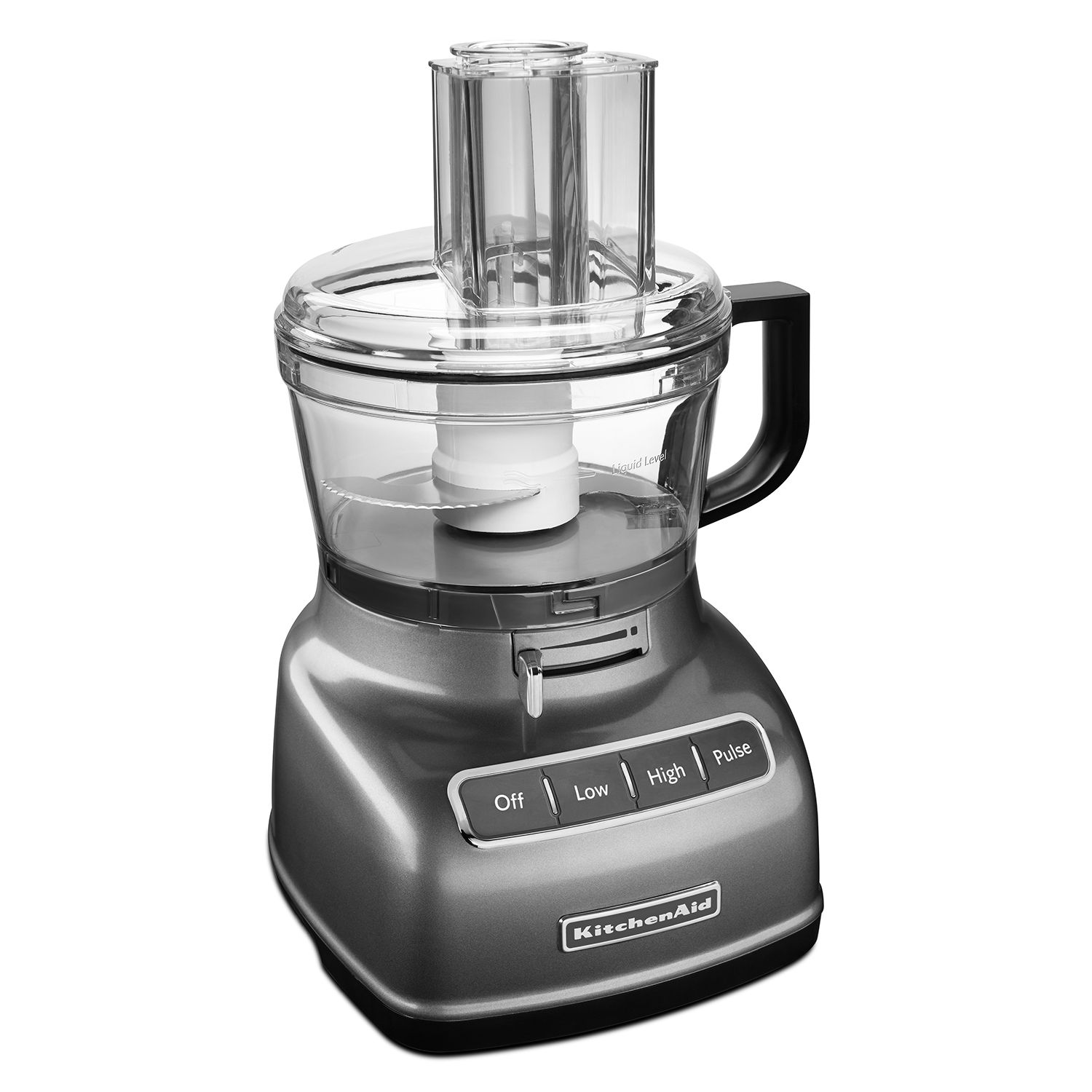 KitchenAid Exact Slice System Wide Large 7 Cup Stainless Steel Food Processor