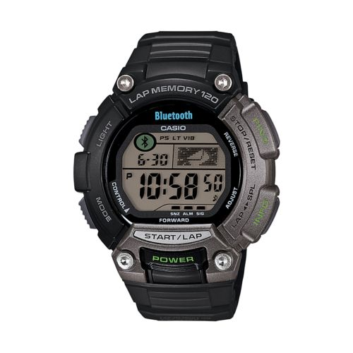 Casio Watch - Men's Bluetooth SPORTS GEAR 120-Lap Resin Digital