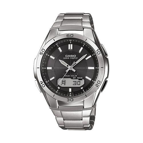 Casio Men's Wave Ceptor Stainless Steel Analog & Digital Atomic Watch - WVAM640D-1A