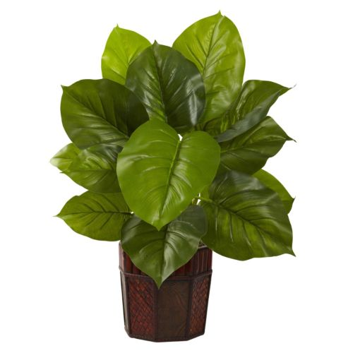 nearly natural Potted Large Leaf Philodendron Plant
