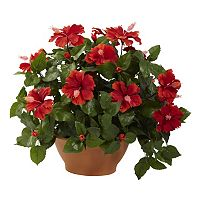 nearly natural Potted Hibiscus Plant