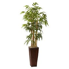 Click here to buy nearly natural 4-ft. Potted Bamboo Plant.