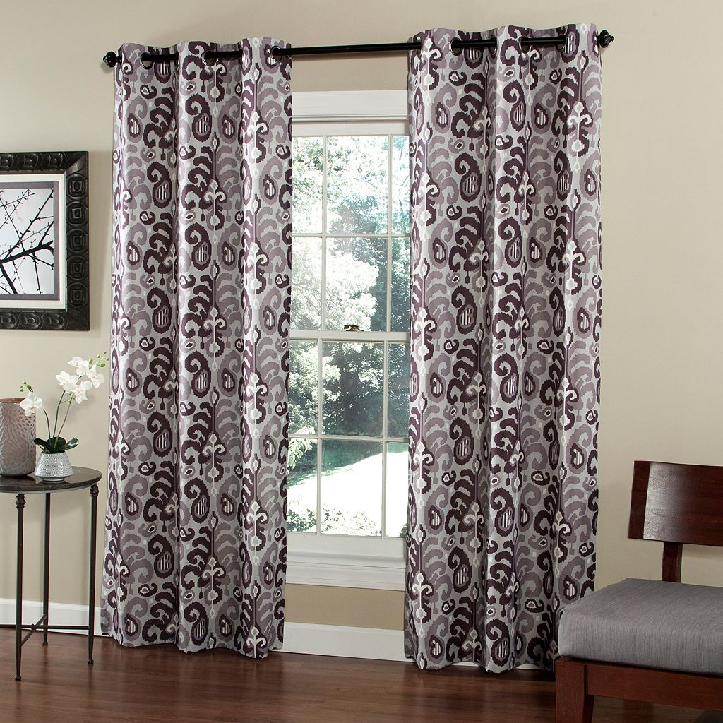 m.style 2-pack Ikat Plume Window Curtains - 40'' x 84''
