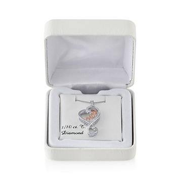 Love Is Forever 14k Rose Gold Over Silver & Sterling Silver 1/10-ct. T.W. Diamond