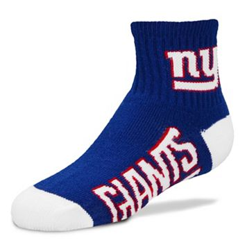 Adult For Bare Feet New York Giants Team Color 1/4-Crew Socks