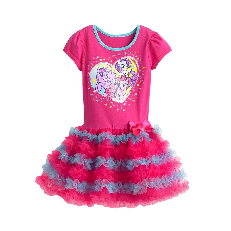 My Little Pony Ruffle Dress - Girls 4-6x (Pink)