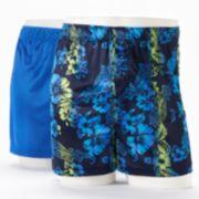 Croft & Barrow® 2-pk. Solid & Patterned Microfiber Knit Boxers - Men