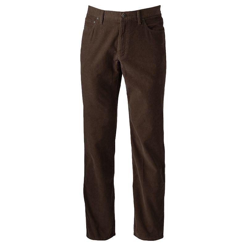 SONOMA life + style 5-Pocket Corduroy Pants - Big & Tall Size 46X32 (Brown)