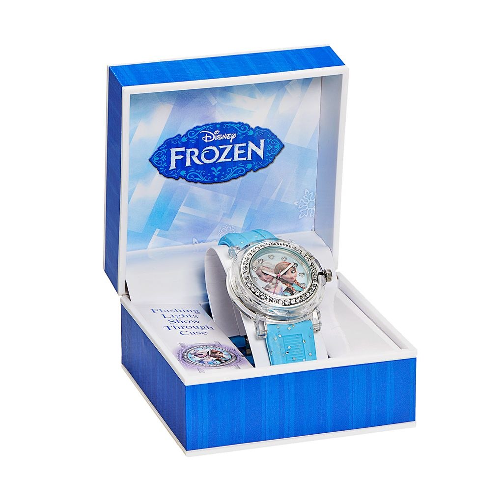Disney Frozen Elsa and Anna Kids' Light-Up Watch