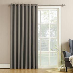 Sun Zero 1-pack Gramercy Room Darkening Patio Door Window Curtain - 100'' x 84''