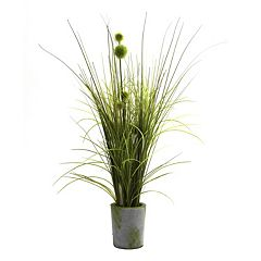 nearly natural Grass & Dandelion Arrangement