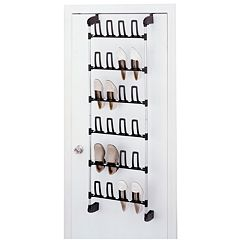 Neu Home 24-Hook Over-The-Door Shoe Rack