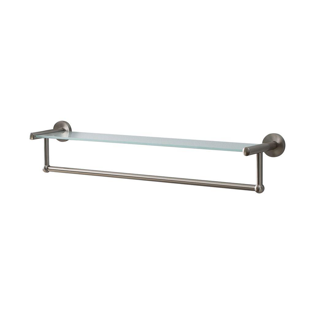 Neu Home Wall-Mounted Glass Shelf with Towel Bar