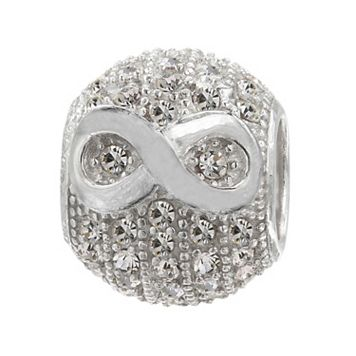Individuality Beads Sterling Silver Crystal Infinity Bead