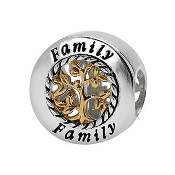 Individuality Beads Sterling Silver & 14k Gold Over Silver Family Tree Bead