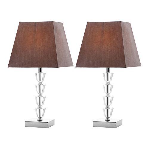 Safavieh 2-piece Avalon Deco Crystal Table Lamp Set